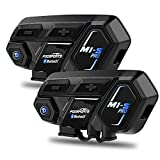 Motorcycle Bluetooth Intercom, Fodsports M1S Pro 2000m 8 Riders Group Motorbike Helmet Communication System Headset Universal Wireless Interphone (Waterproof/Handsfree/Stereo Music/GPS/2 Pack)