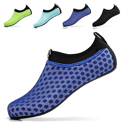 Sixspace Unisex Water Shoes Barefoot Beach Shoes Aqua Socks for Swim Pool Surf YogaDark Blue 41/42