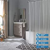 Bath Bliss 70'x72' PEVA Curtain, 7.2G Thickness, Rust Resistant, Eco-Friendly, for Bathroom, in...
