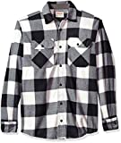 Wrangler Authentics Men's Long Sleeve Plaid Fleece Shirt, Birch Buffalo, L