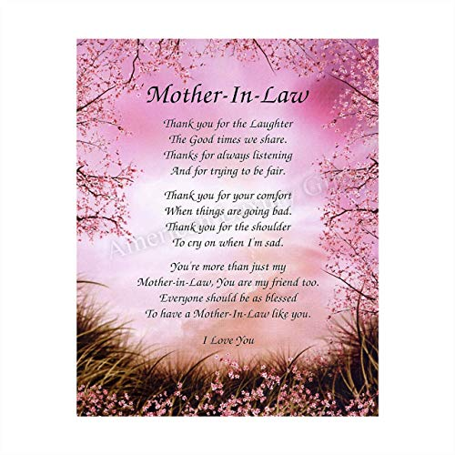 'Mother-in-Law- What You Mean To Me'- 8 x 10' Wall Art-Ready...