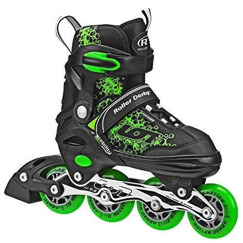 Roller Derby ION 7.2 Inline Skates with Aluminum frames and Adjustable Sizing for growing feet, Medium (2-5)