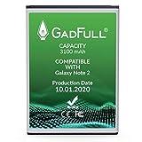 GadFull Batterie compatible avec Samsung Galaxy Note 2 | 2020 Date de Production...