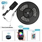 Nexlux LED Strip Lights, WiFi Wireless Smart Phone Controlled 32.8ft Waterproof Light Strip LED Kit 5050 LED Lights,Working with Android and iOS System,Alexa, Google Assistant