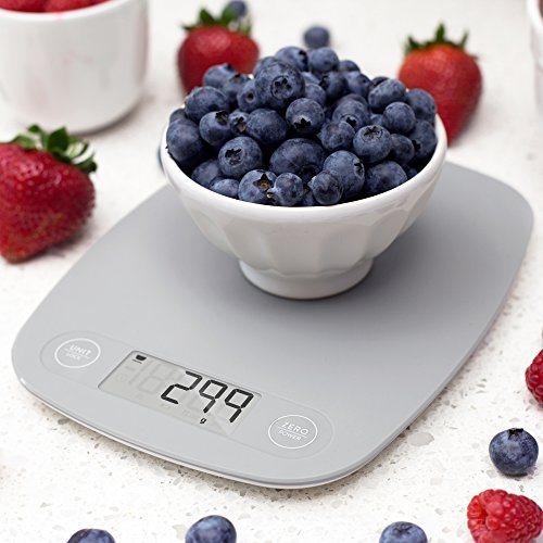 GreaterGoods Digital Food Kitchen Scale, Multifunction Scale Measures in Grams and Ounces (Ash Grey) 4