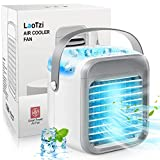 LaoTzi Portable Air Conditioner, Rechargeable Evaporative Air Conditioner Fan with 3 Speeds 7 Colors, Cordless Personal Air Cooler with Handle for Home, Office and Room