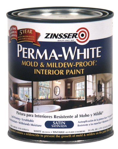 Zinsser- Perma-White Mold & Mildew-Proof Satin Interior Paint