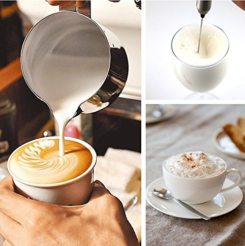 Product Image 6: 1Easylife H422 Stainless Steel Handheld Electric Milk Frother with Bonus Mix Spoon