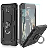 iPhone 11 Case with Tempered Glass Screen Protector [2 Pack], LeYi Military Grade Armor Phone Cover Case with Car Ring Holder Kickstand for Apple iPhone 11 6.1 inch