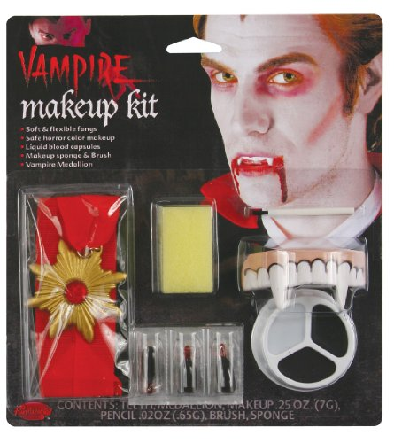 Fun World Unisex-Adult's Living Nightmare Costume Makeup Kits, Multi, Standard