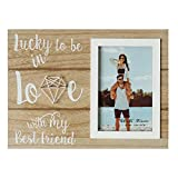 Ylu Yni Picture Frame 4x6 Inch Photo, Wedding Photo Frame Romantic Engagement and Wedding Gift for Couples, Boyfriend, Girlfriend, Valentine's Day