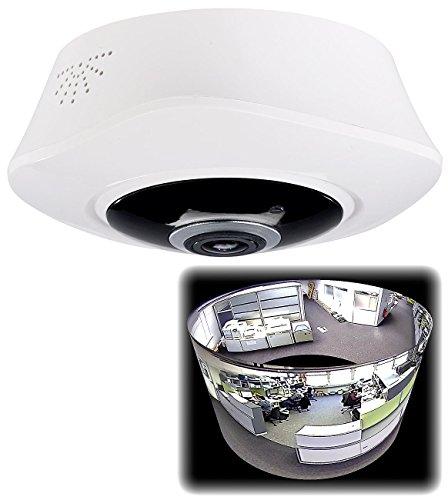 7links Überwachungskamera Decke: 360°-Panorama-IP-Überwachungskamera mit 2K-Auflösung, WLAN, Nachtsicht (Deckenkamera 360°)