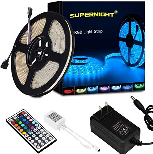 SUPERNIGHT LED Strip Lights, RGB Color Changing 16.4Ft SMD5050...