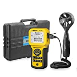 BTMETER BT-846A Pro HVAC Anemometer Measures Wind Speed Wind Flow Wind Temperature CFM Air Flow Velocity Meter with Backlight MAX MIN AVG