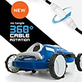 Aquabot Spirit Above and Inground Robotic Pool Cleaner with Anti-Tangle 360 Swivel