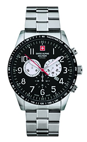Swiss Alpine Military by Grovana Herrenuhr Chrono 10 ATM Black 7082.9137SAM