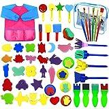 Dokpav 52PCS Enfants Peinture Kits, Éponge Brosses de Peinture Enfant,...
