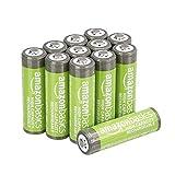 Amazon Basics Piles rechargeables AA haute capacité 2400mAh (Lot de 12) -...