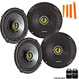 Kicker 46CSC654 - Two Pairs of CS-Series CSC65 6.5-Inch (160mm) Coaxial Speakers, 4-Ohm (2 Pairs)