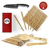 AYA Kit à Sushi - Nattes de Première Qualité - Bambou 100% Naturel...