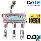 Eurosell Répartiteur de câble à Large Bande 3 Voies pour TV DVB-T et...