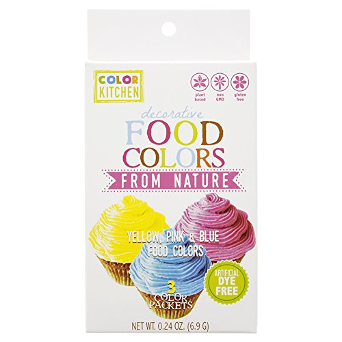 ColorKitchen Food Color Set of 3 (Pink, Blue, Yellow) .24 ounce