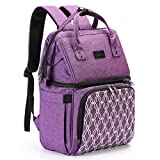 AmHoo Insulated Lunch Box Cooler Backpack Waterproof Leak-proof Lunch Bag Tote For Men Women Hiking Beach Picnic Trip with Strongest YKK Zipper Purple