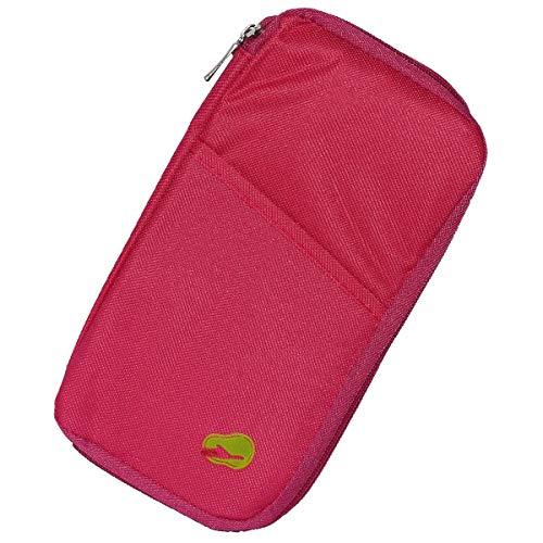 Porta Passaporte E Documentos Viagem Cartão (rosa)