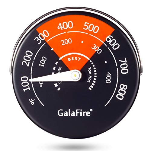 GALAFIRE Magnetic Stove Thermometer Oven Temperature Meter for Wood Burning Stoves Gas Stoves Pellet Stove Stoves Avoid Stove Fan Damaged by Overheat