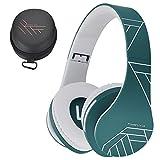 PowerLocus Bluetooth Cuffie Auricolari Pieghevoli, Over Ear Bluetooth Headphones Stereo Senza Fili Cuffie o Collegate Headset con Microfono, Micro SD/TF, FM per iPhone/Samsung/iPad/PC (Blue)