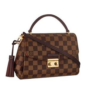 Louis Vuitton Damier Ebene Canvas Croisette Hand Carry Shoulder Handbag Article:N53000 Made in France 6