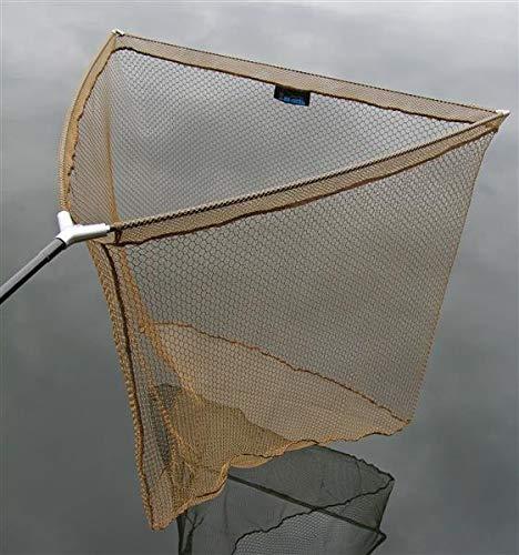 DD-Tackle - Retino per carpe, testa in metallo, 80 x 80 cm, con custodia in metallo