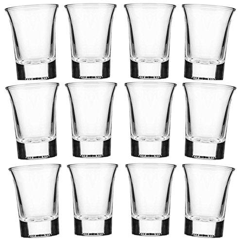 Set di bicchierini da shots da 2 cl in vetro opaco satinato per Vodka,Tequila, trasparente, 24 pezzi