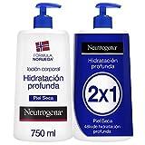 Neutrogena Loción Corporal Hidratación Profunda, Piel Seca, 2x750ml