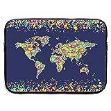 Wanderlust World Map Global Mosaics Funda para portátil Funda para Funda Funda para Funda Funda Protectora para Tableta