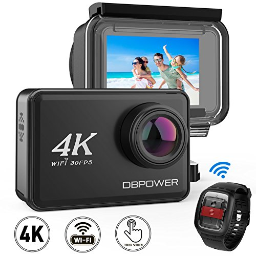 DBPOWER D5 Native 4K EIS Action Camera 2' LCD...