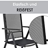 ArtLife Aluminium Gartengarnitur Milano Gartenmöbel Set mit Tisch und 6 Stühlen - 2