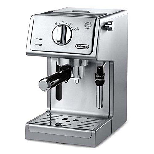 DeLonghi - Máquina para cappuccino, Acero inoxidable, 41.3 cm (alto) x 32.4 cm (ancho) x 18.4 cm, 1