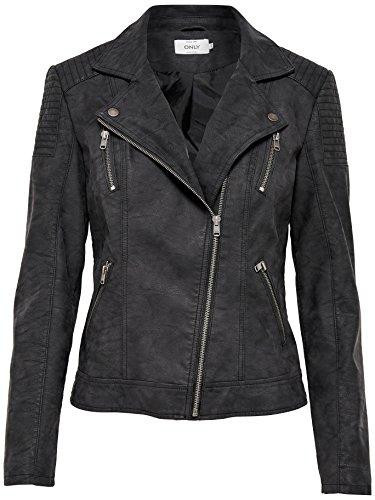 ONLY Damen Jacke Onlsteady Faux Leather Biker CC OTW