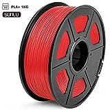 SUNLU PLA Plus 3D Printer Filament, 1KG(2.2LBS) Spool 1.75 PLA Filament, Dimensional Accuracy +/- 0.02 mm, PLA+ Red