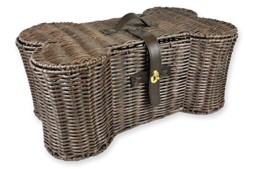 Bone Dry DII Small Wicker-Like Bone Shape Storage Basket