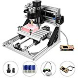 Mophorn CNC Machine 2418 GRBL Control Wood Engraving Machine 3 Axis CNC Router with Offline Controller Milling Machine for Wood PVCs PCBs