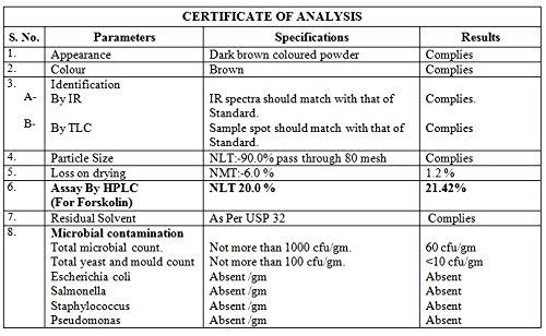 100% Pure Forskolin Extract Powder   20% Standardized Max Strength Weight Loss, Appetite Suppressant, Belly Buster, Carb Blocker Supplement for Men & Women   Coleus Forskohlii Root, Non-GMO (50 Gram) 4