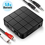Transmetteur Récepteur Bluetooth 5.0, Adaptateur Bluetooth Sans Fil 2 en 1...