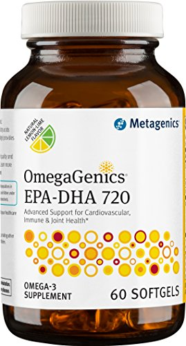 Metagenics - OmegaGenics EPA-DHA 720  Omega-3 Fish Oil  Daily Supplement, 60 count