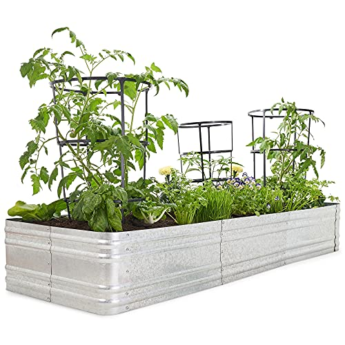 Premium Raised Garden Bed - Sturdy and Easy to Assemble Galvanized...