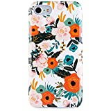 Dimaka iPhone 7 Case iPhone 8 Case Cute Floral Flower Design for Girls,Heavy Two-Tier Shockproof with Soft TPU Inside Protective Cases for iPhone 7 and iPhone 8(Obsession Camellia)