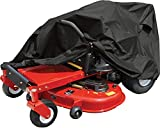 Raider 02-7730 SX-Series Black Large Weather and UV-Resistant Zero-Turn Lawn Tractor Storage Cover