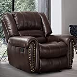 CANMOV Recliner Chair Breathable PU Leather, Classic and Traditional...