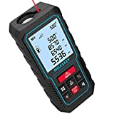 70M Laser Measure Device, Mileseey 229ft Digital Laser Tape Measure with Upgraded Electronic Angle Sensor, ±2mm Accuracy, Area Measurement,Volume and Pythagoras, Backlit LCD,Mute, Battery Included
